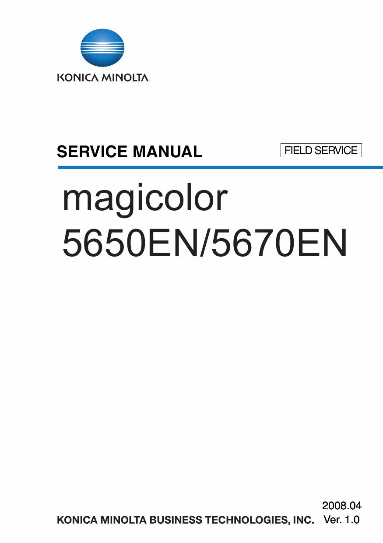 konica minolta magicolor 5650en  5670en  field service